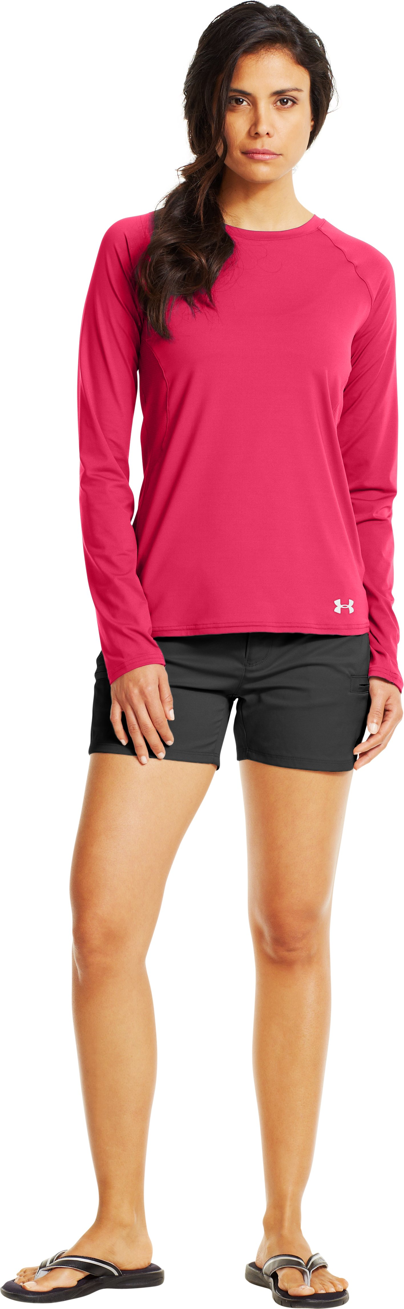 Women's UA Iso-Chill Long Sleeve, Hollywood, Front