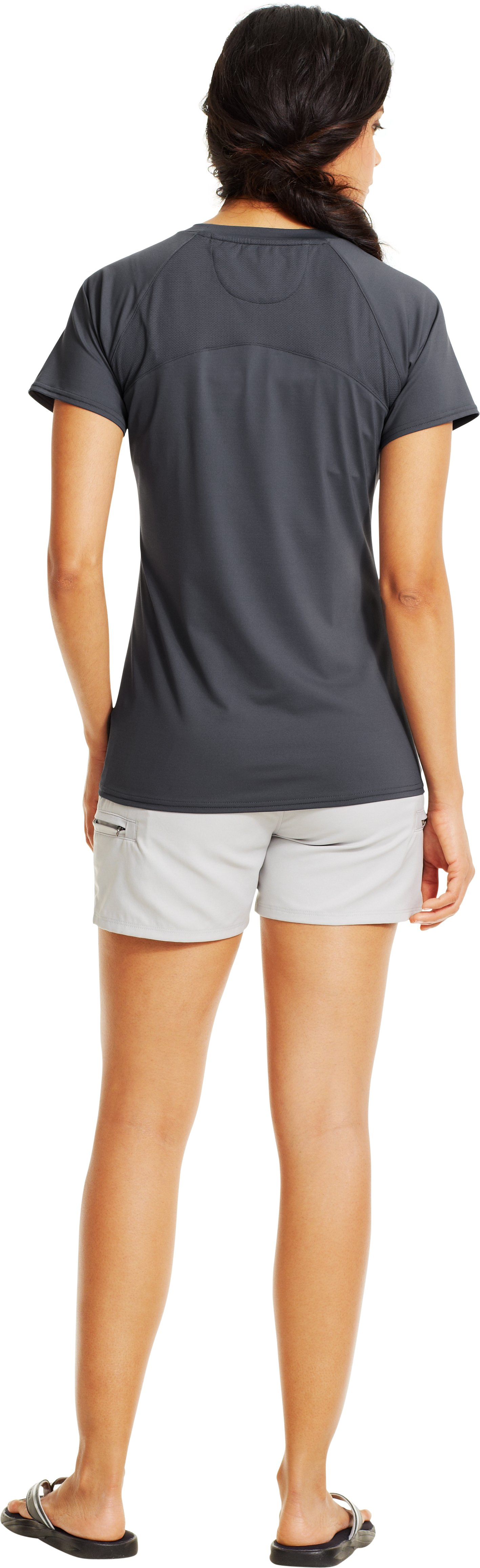 Women's UA Iso-Chill Short Sleeve, Lead, Back