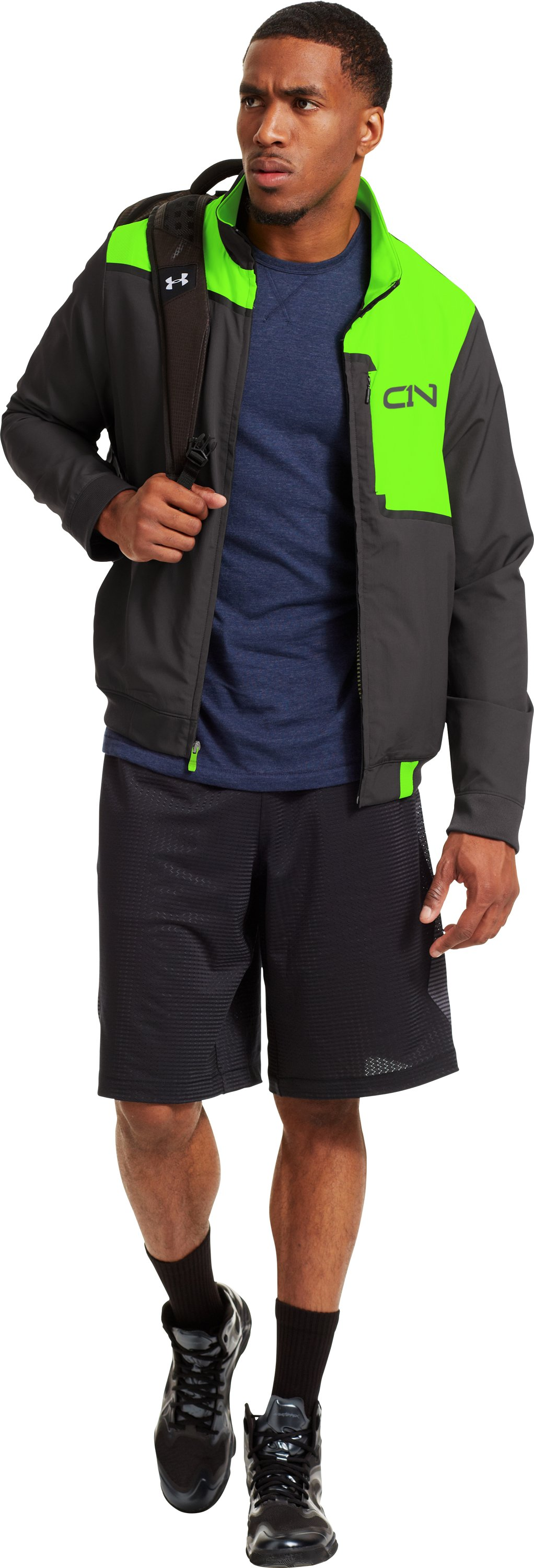 Men's C1N A.K.A. Warm-Up Jacket, HYPER GREEN