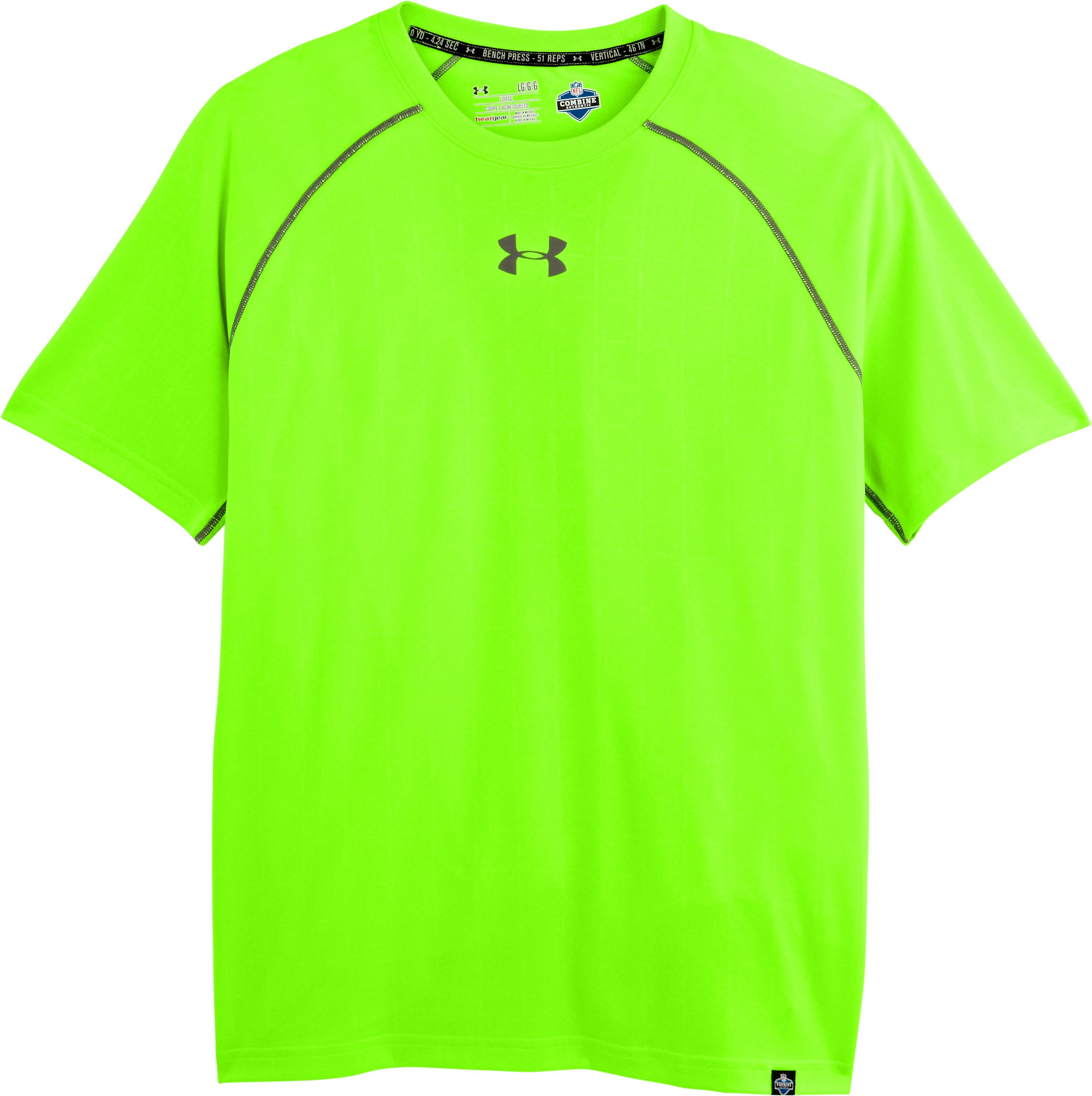 Men's NFL Combine Authentic Training T-Shirt, HYPER GREEN, Laydown