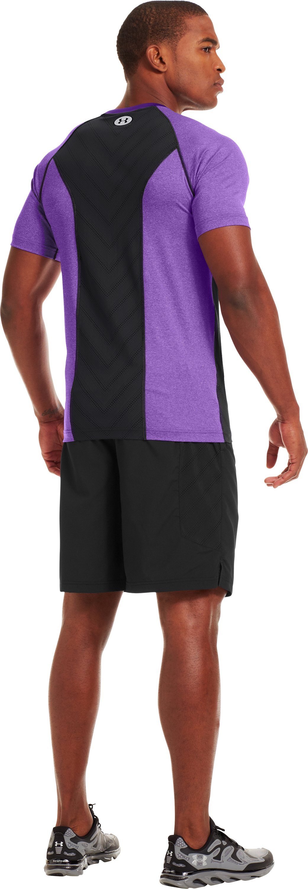 Men's HeatGear® Sonic ArmourVent™ Short Sleeve, PRIDE, Back