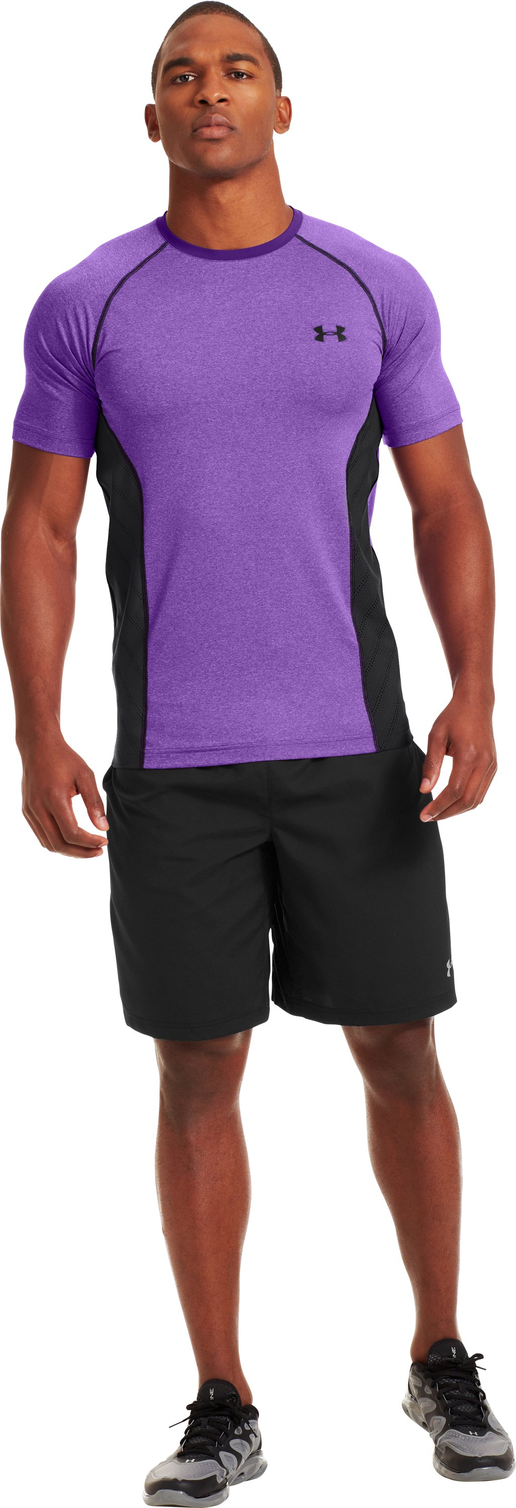 Men's HeatGear® Sonic ArmourVent™ Short Sleeve, PRIDE, Front