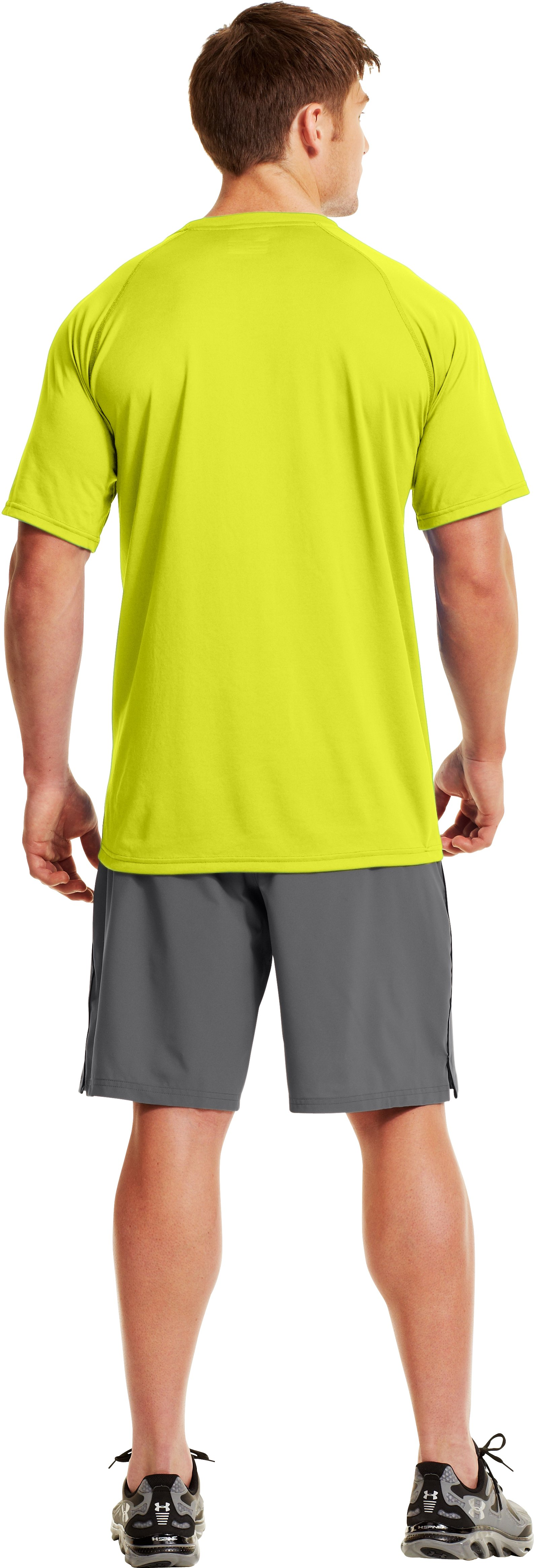Men's UA Wordmark T-Shirt, Flash Light, Back