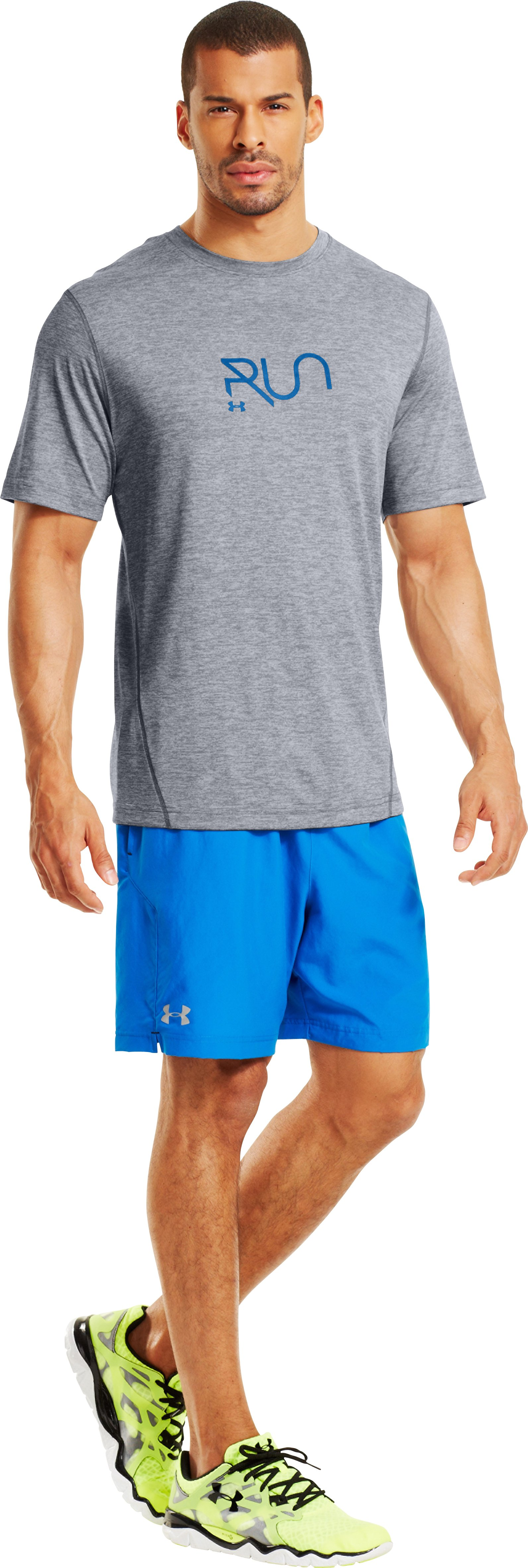 Men's UA Illegal Turn T-Shirt, Steel, Front