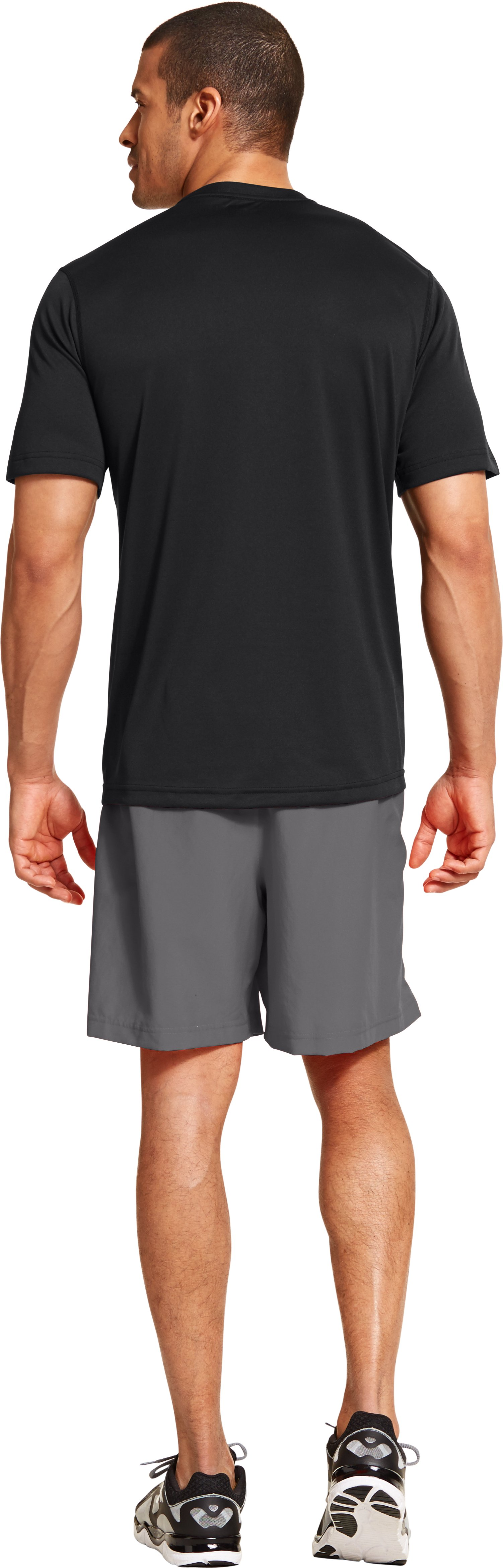 Men's UA All Over Grid T-Shirt, Black , Back