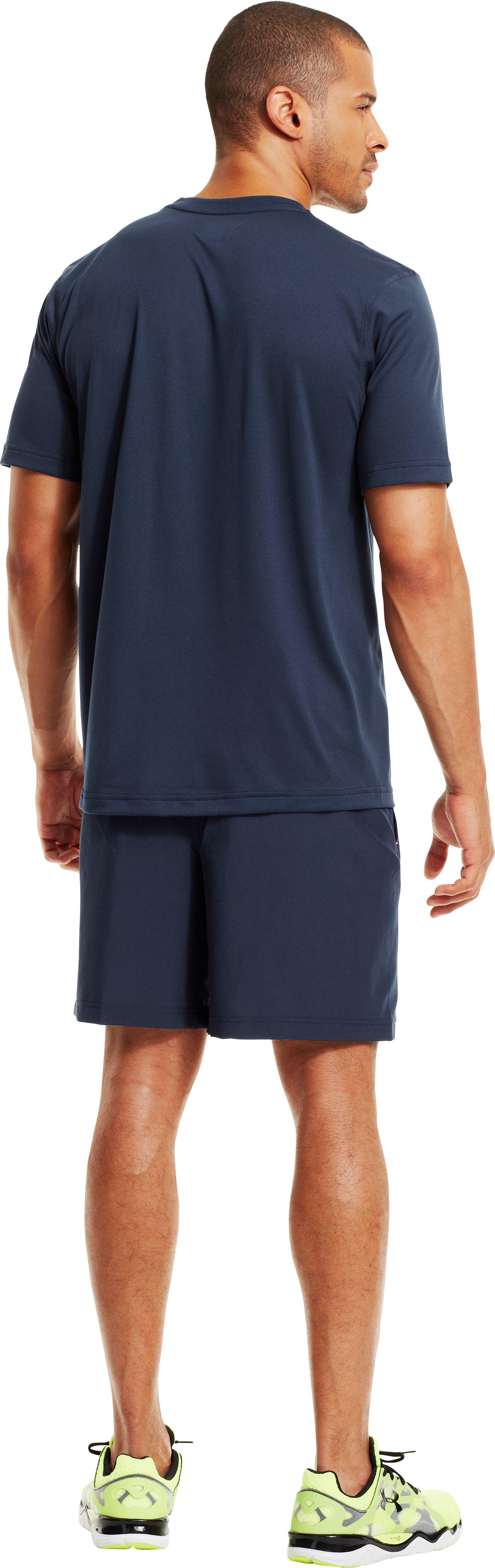 Men's UA All Over Grid T-Shirt, Academy, Back
