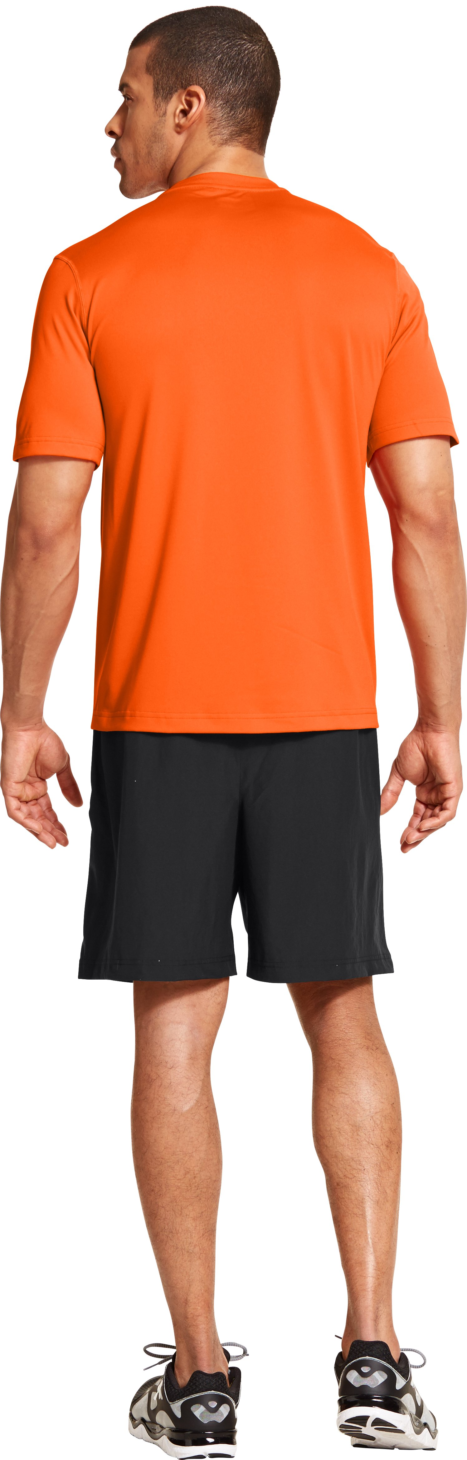 Men's UA All Over Grid T-Shirt, OUTRAGEOUS ORANGE, Back