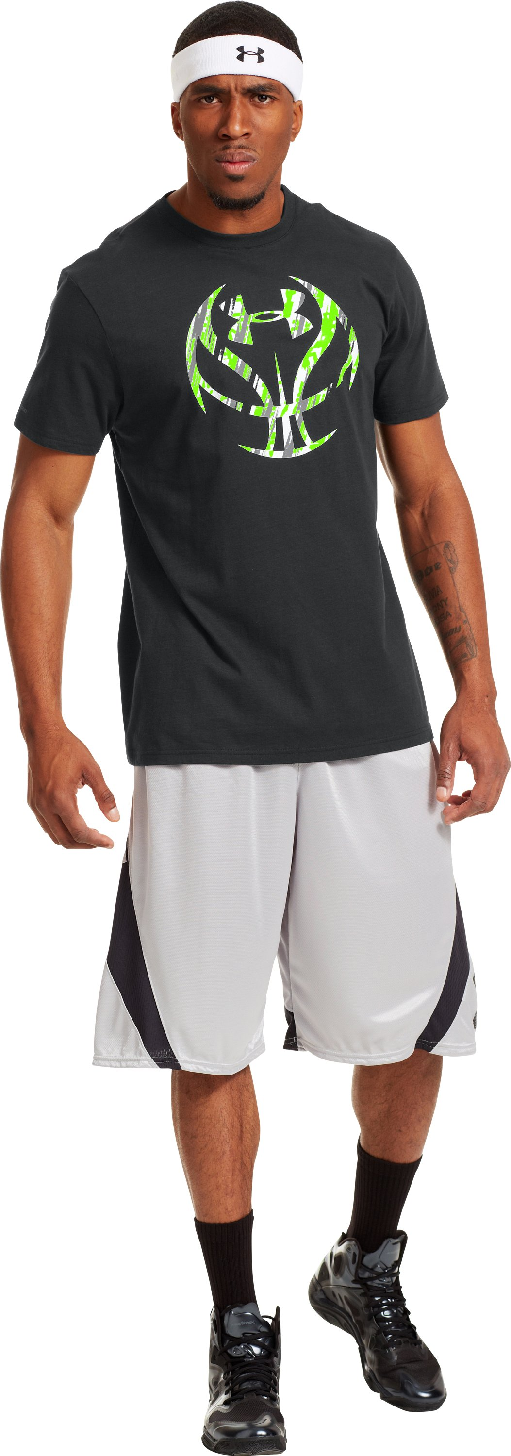 Men's UA Exodus Icon T-Shirt, Black , zoomed image