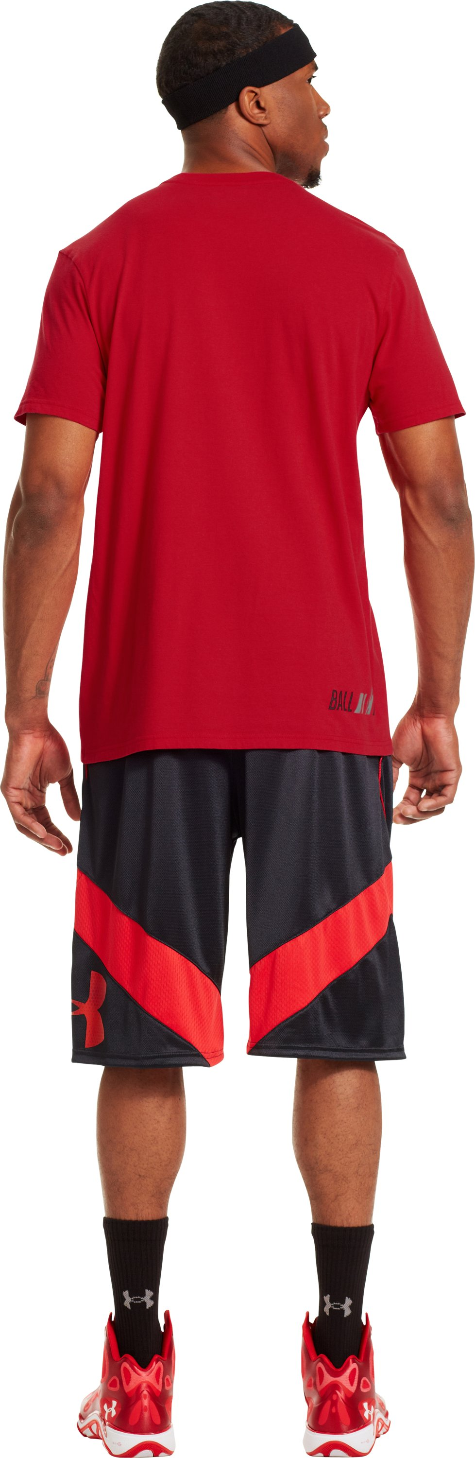 Men's UA Exodus Icon T-Shirt, Red, Back