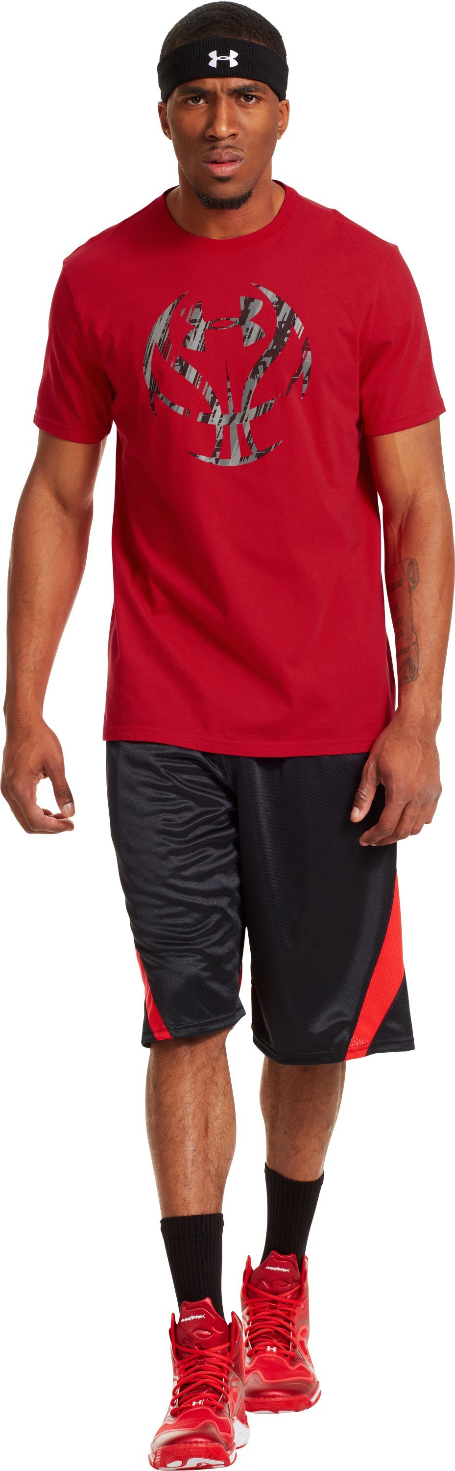 Men's UA Exodus Icon T-Shirt, Red, Front