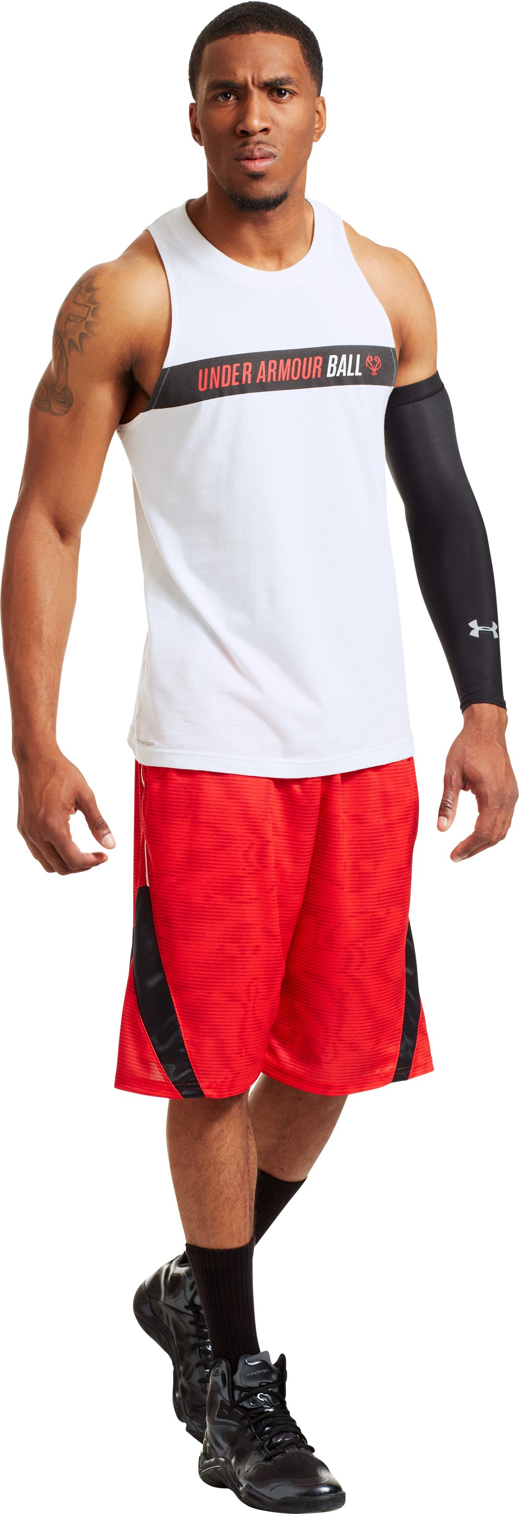 Men's UA Ball Tank, White, zoomed image