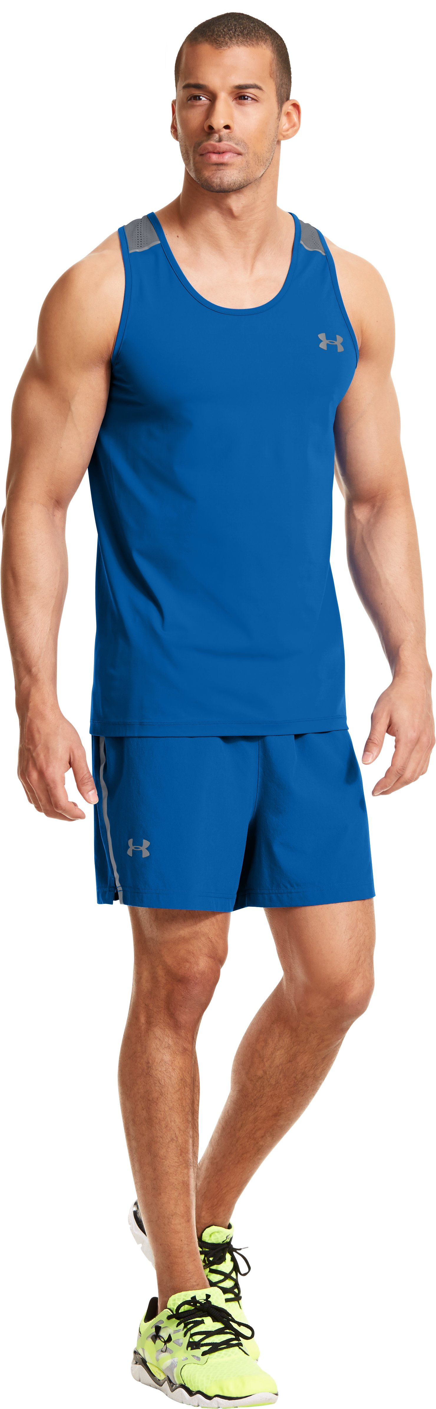 Men's HeatGear® ArmourVent™ Run Shorts, SUPERIOR BLUE,
