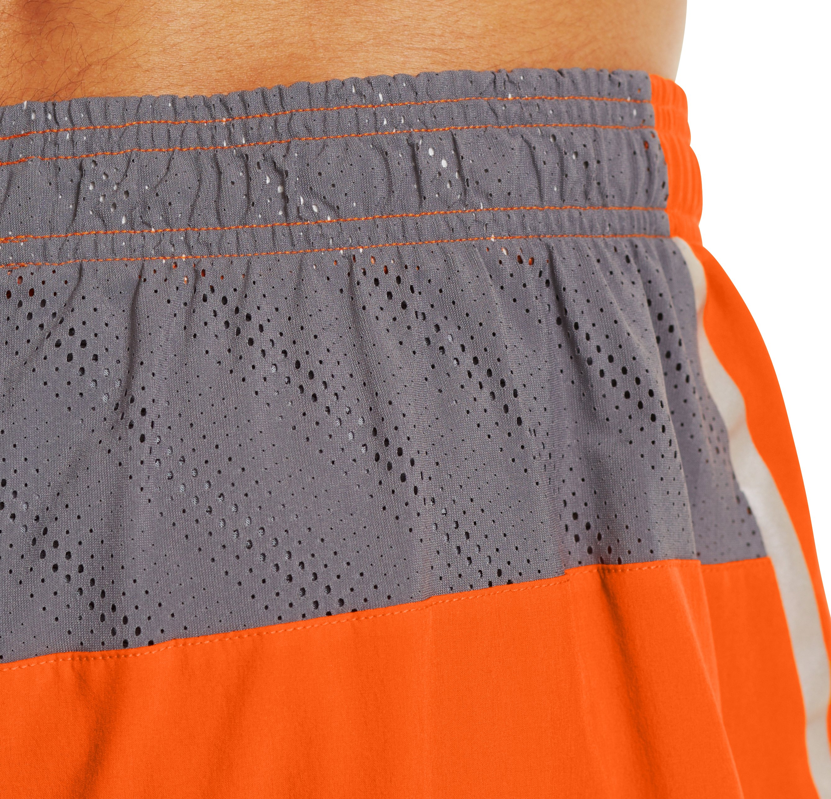 Men's HeatGear® ArmourVent™ Run Shorts, Steel, undefined