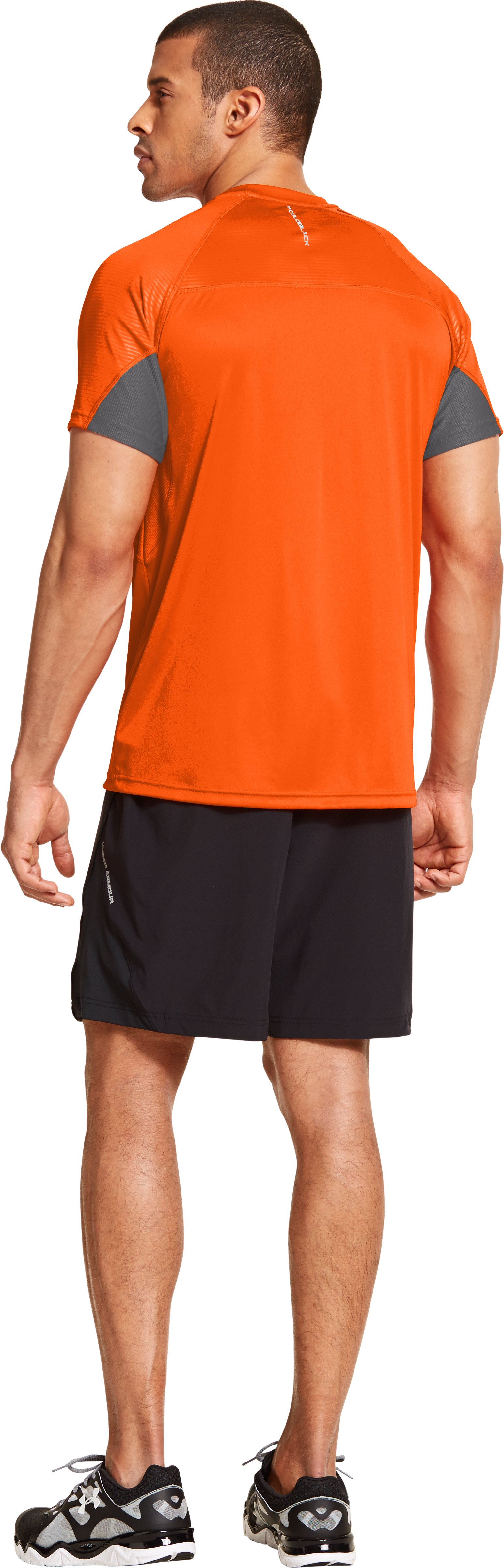 Men's coldblack® Run Short Sleeve, OUTRAGEOUS ORANGE, Back