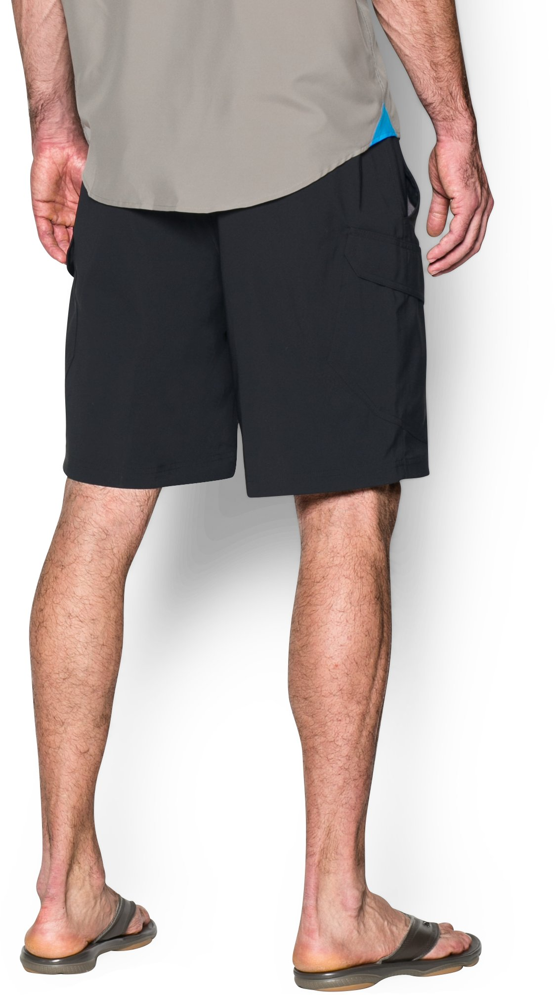 Men's UA Fish Hunter Cargo Shorts, Black , undefined