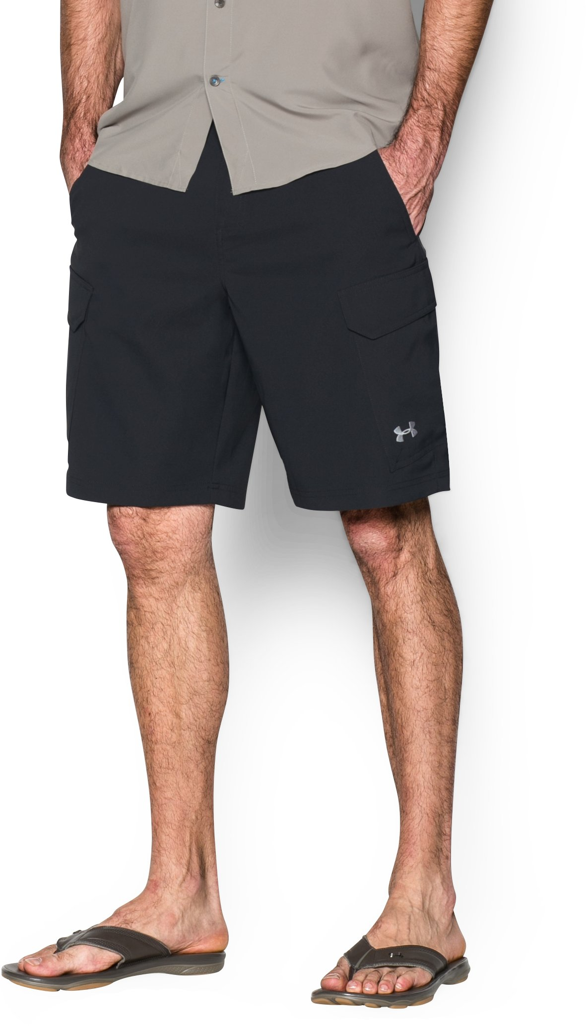 Men's UA Fish Hunter Cargo Shorts, Black