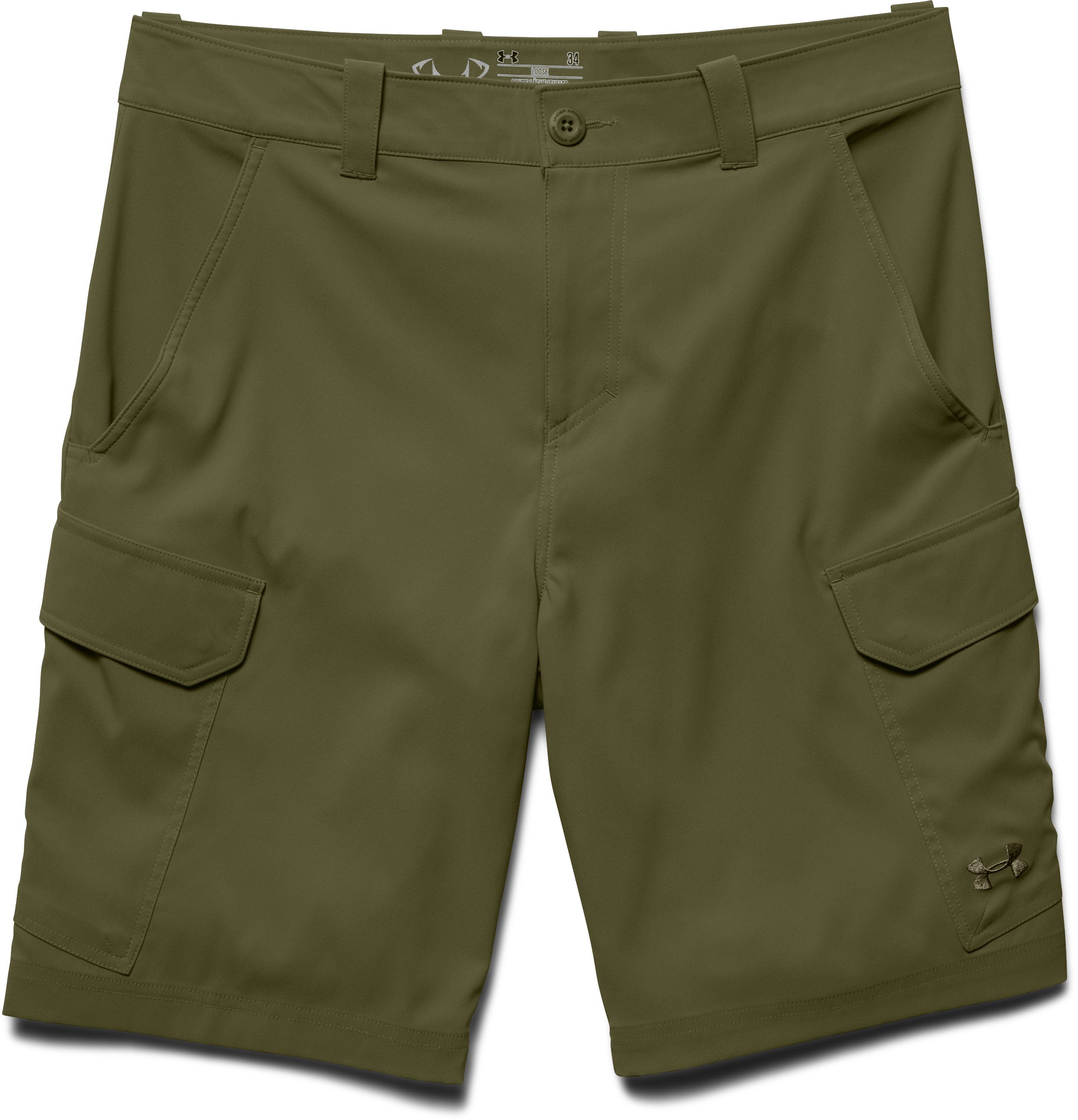 Men's UA Fish Hunter Cargo Shorts, MAJOR, Laydown