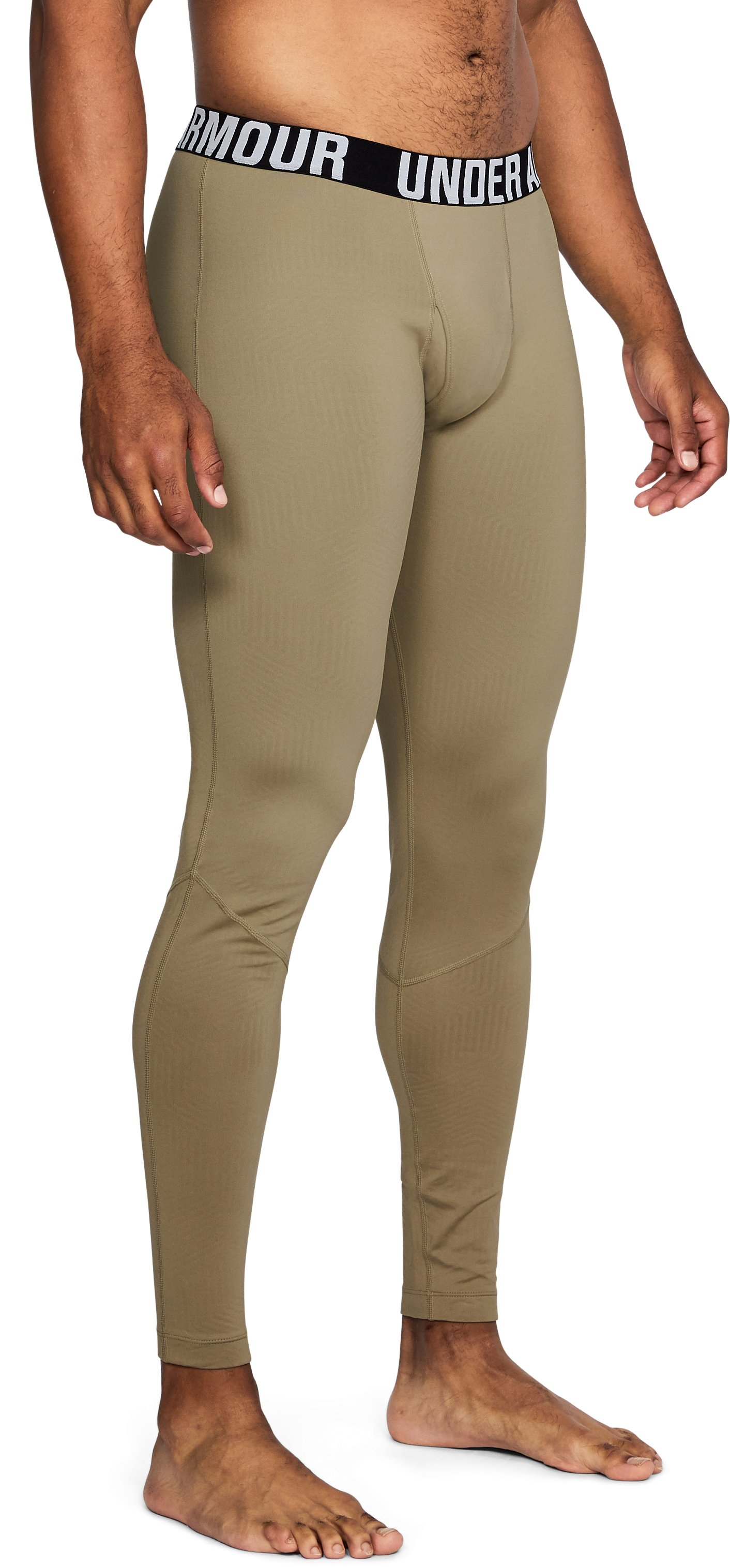 Men's ColdGear® Infrared Tactical Fitted Leggings, FEDERAL TAN, undefined