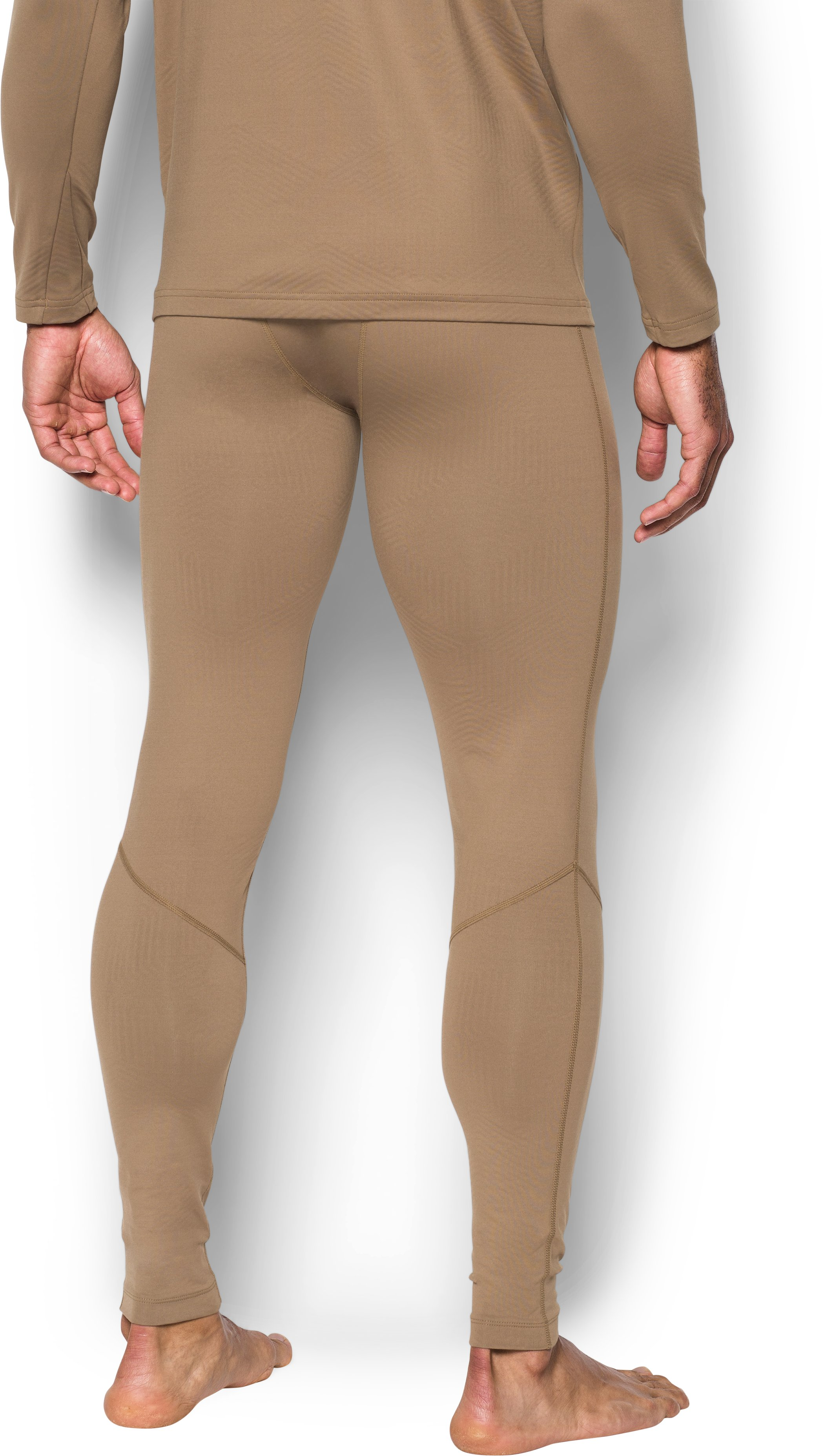 Men's ColdGear® Infrared Tactical Fitted Leggings, Coyote Brown,