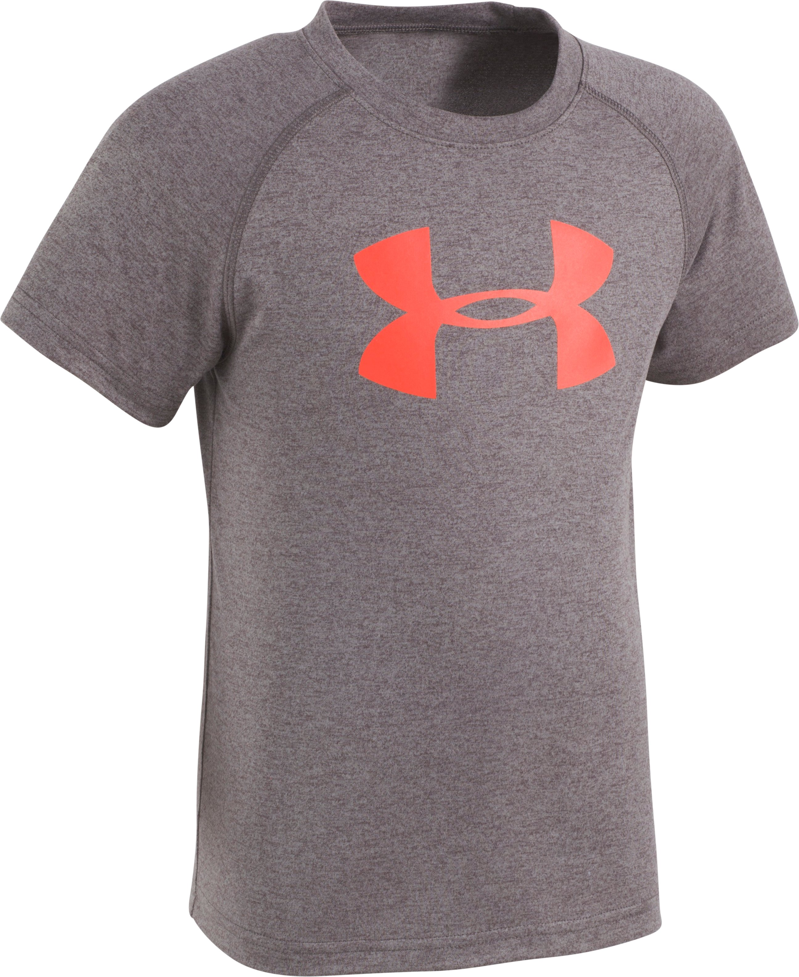 Boys' Pre-School UA Big Logo T-Shirt, Carbon Heather, zoomed image