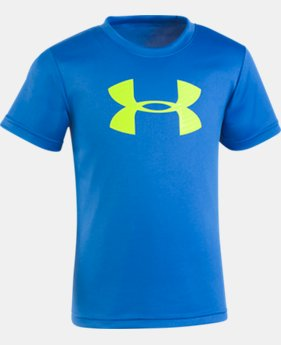 Boys' Pre-School UA Big Logo T-Shirt FREE U.S. SHIPPING 5  Colors Available $17.99