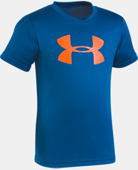 Boys' Pre-School UA Big Logo T-Shirt  4  Colors Available $17.99