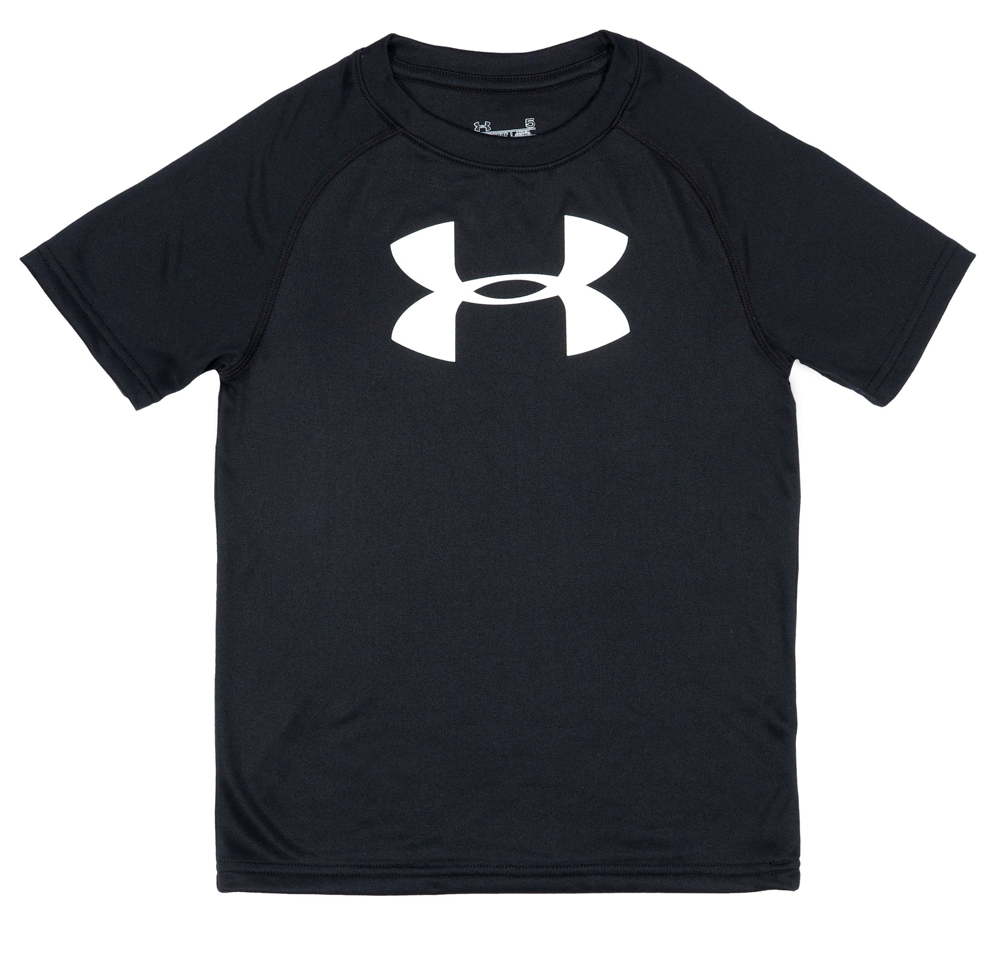 Boys' Infant UA Big Logo T-Shirt, Black , Laydown