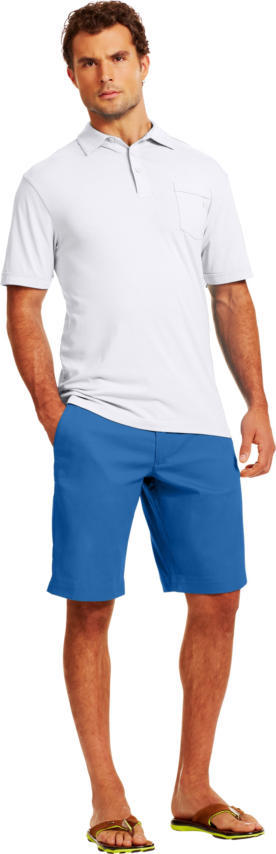 Men's UA Performance Chino Shorts, VICTORY BLUE, Front