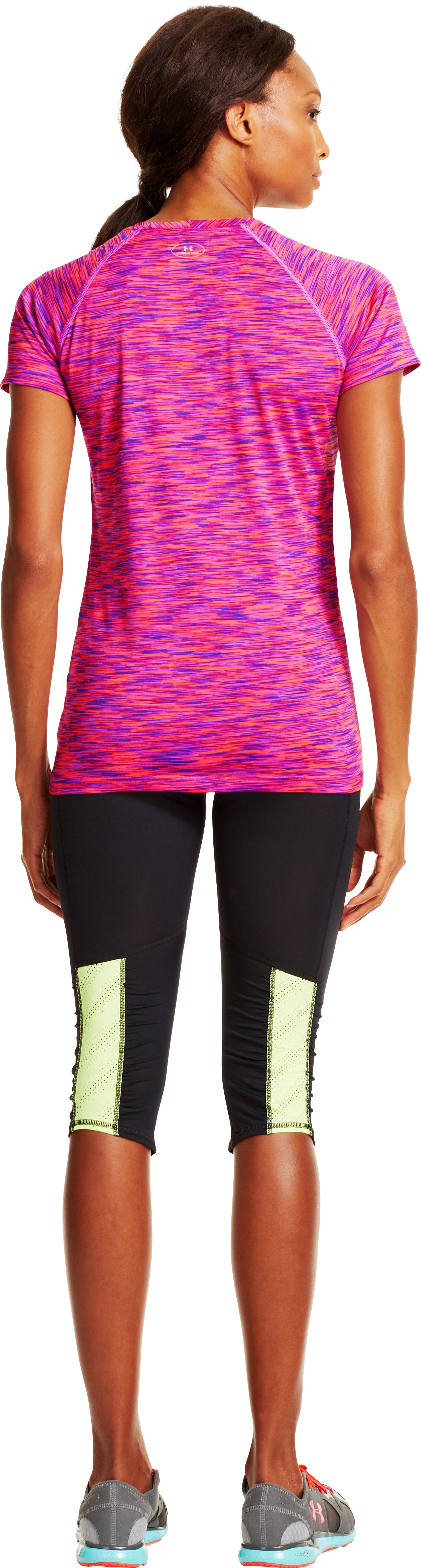 Women's UA Tech™ Space Dye T-Shirt, EXOTIC BLOOM, Back