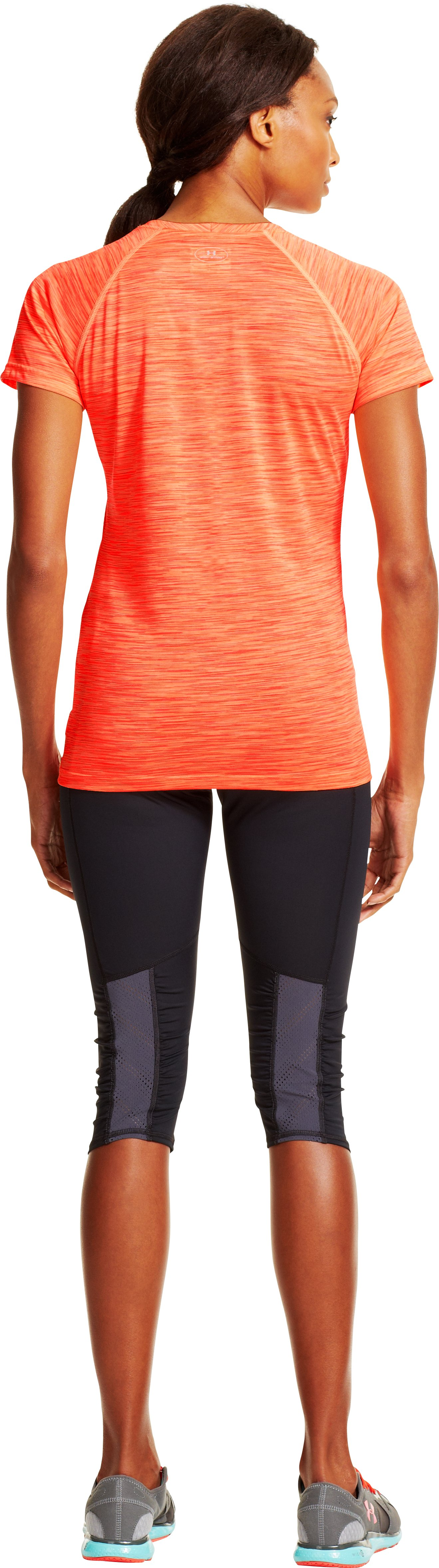 Women's UA Tech™ Space Dye T-Shirt, Afterglow, Back