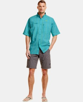 Men's UA Flats Guide Plaid Short Sleeve Shirt LIMITED TIME: FREE U.S. SHIPPING  $52.99