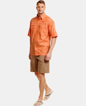 Men's UA Flats Guide Plaid Short Sleeve Shirt LIMITED TIME: FREE U.S. SHIPPING 1 Color $52.99