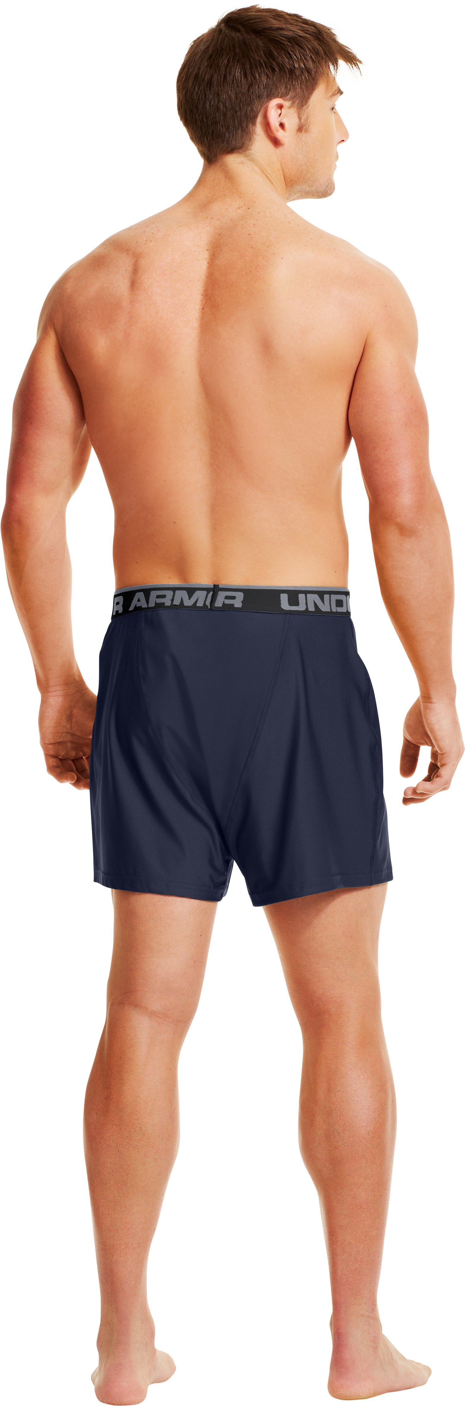 Men's UA Original Series Boxers, Midnight Navy, Back
