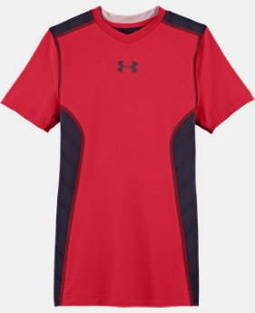 Boys' HeatGear® Sonic ArmourVent™ Short Sleeve