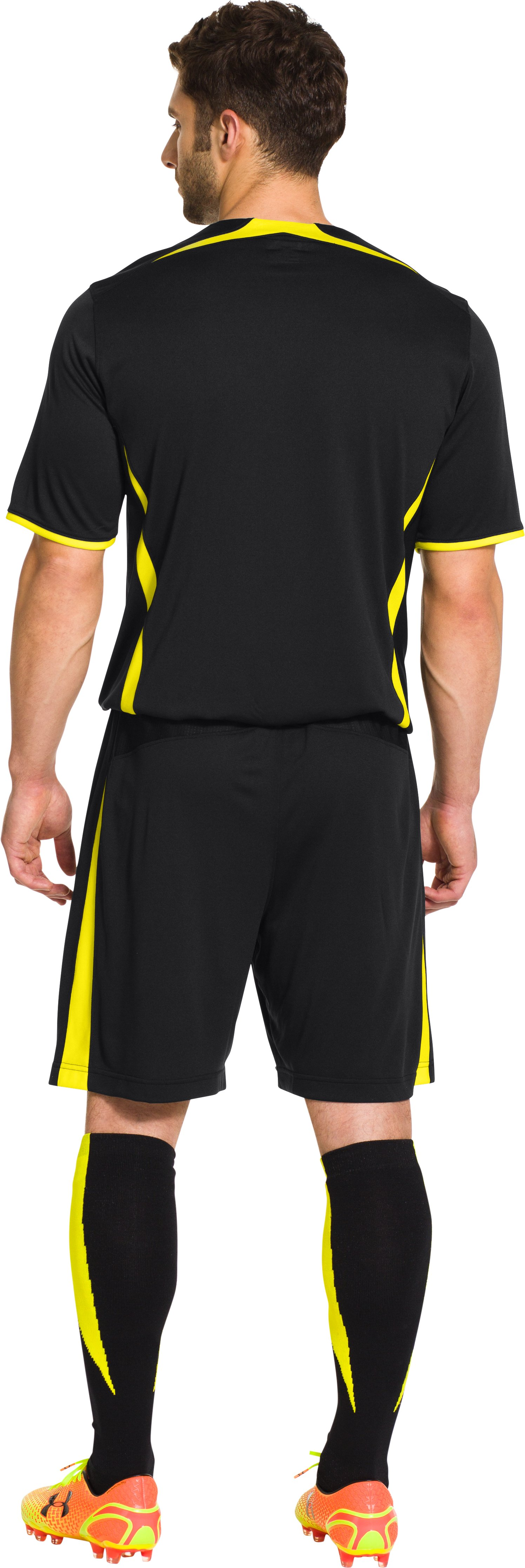 Men's Tottenham Hotspur 14/15 Away Replica Shorts, Black , Back