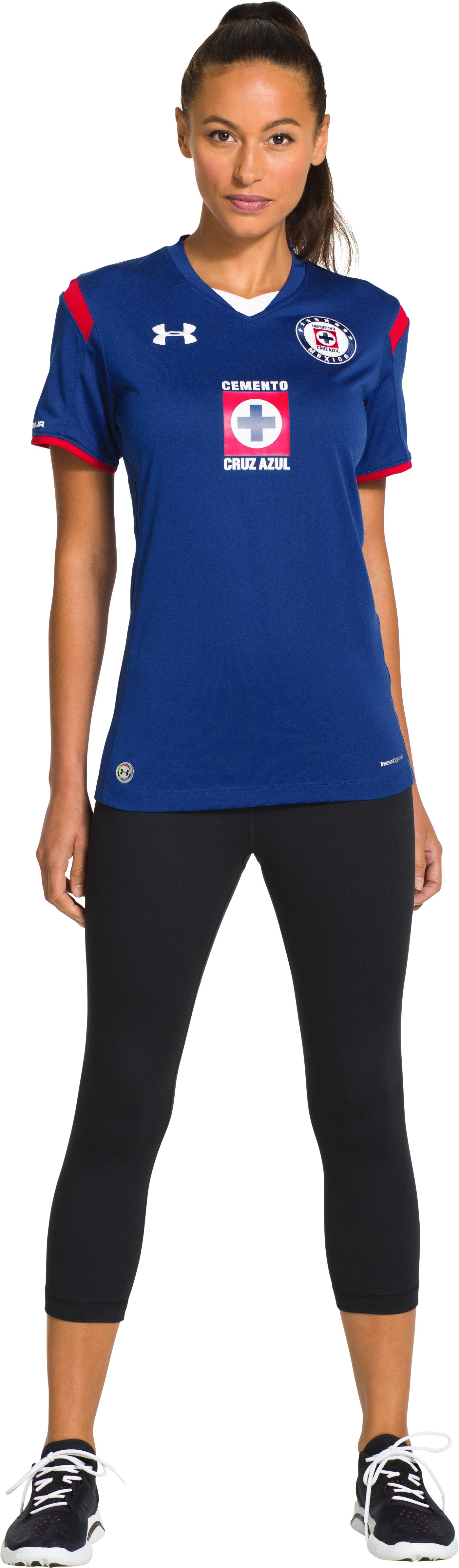 Women's Colo-Colo Home UA Soccer Jersey, Royal, Front