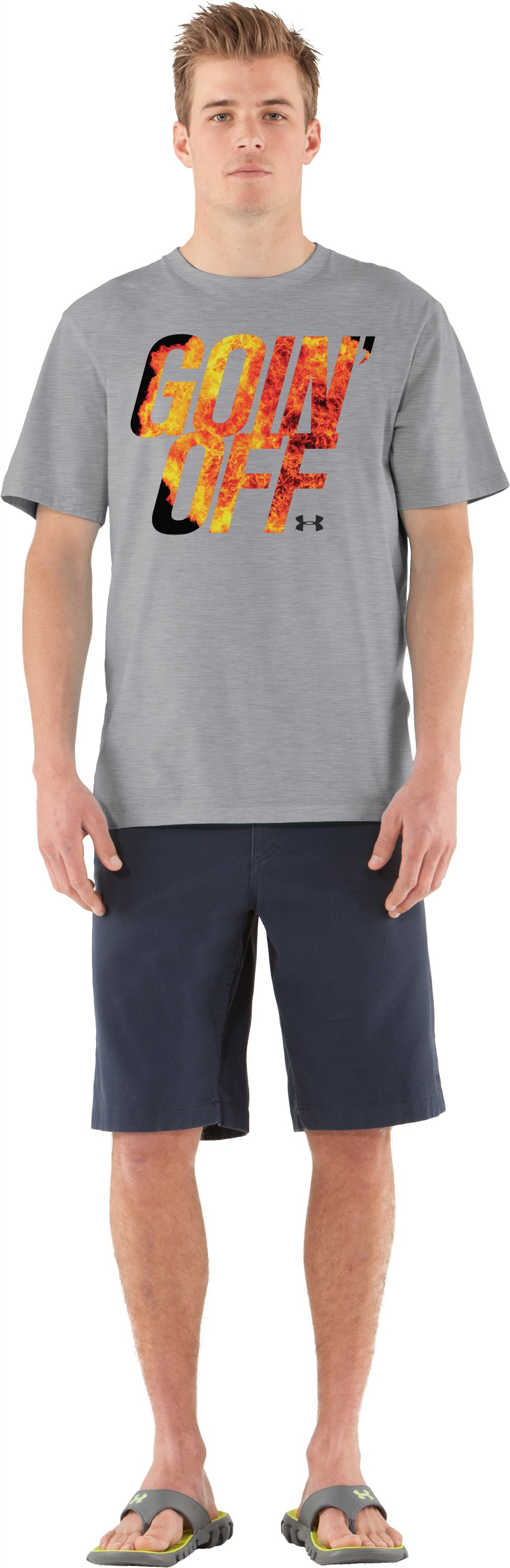Men's UA Goin' Off T-Shirt, True Gray Heather, Front