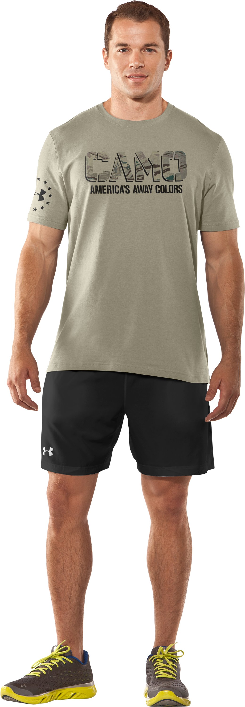 Men's USA Away Colors T-Shirt, Desert Sand, Front