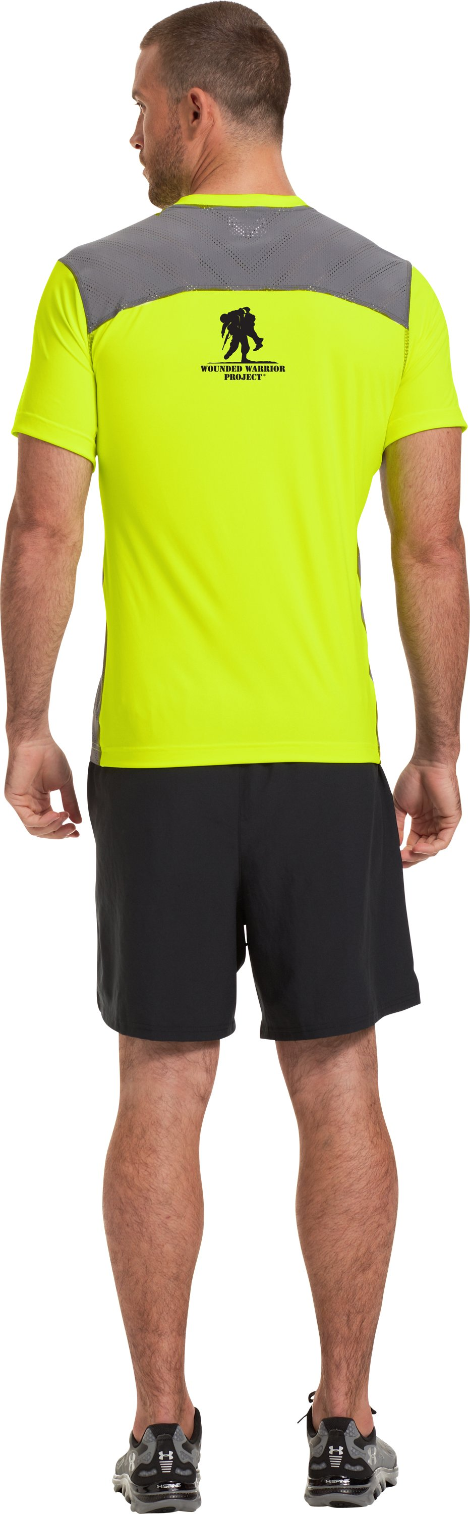 Men's WWP ArmourVent™ Short Sleeve T-Shirt, High-Vis Yellow, Back