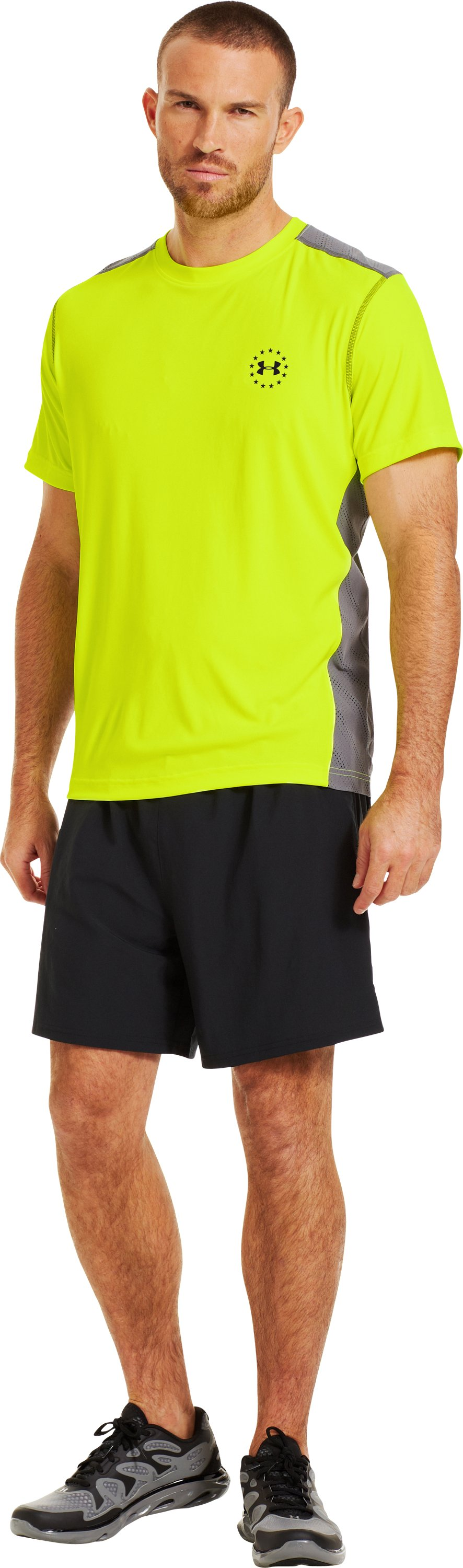 Men's WWP ArmourVent™ Short Sleeve T-Shirt, High-Vis Yellow, Front