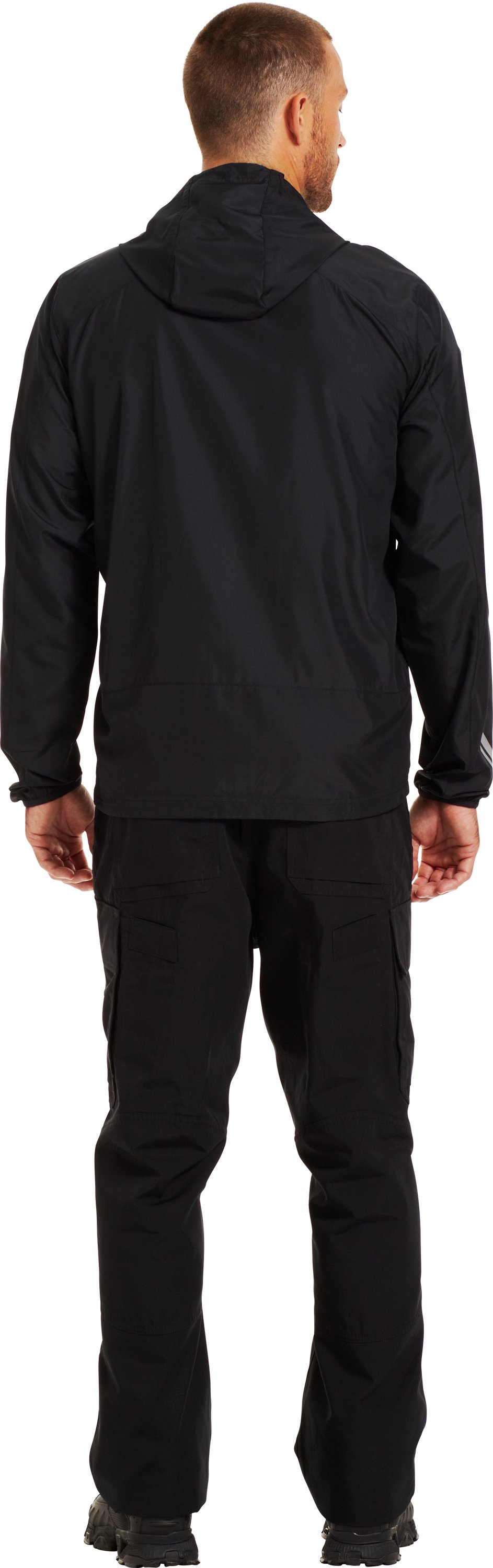 Men's WWP UA Run Jacket, Black , Back