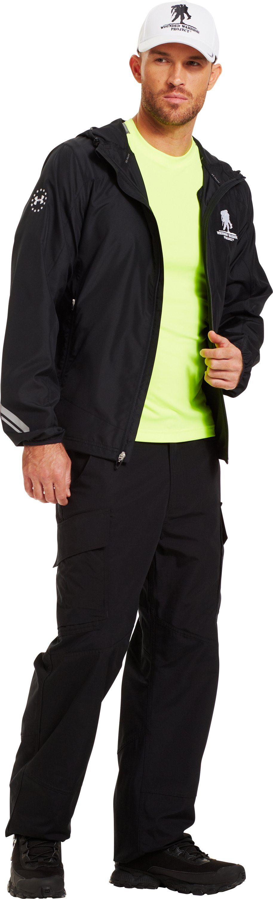 Men's WWP UA Run Jacket, Black