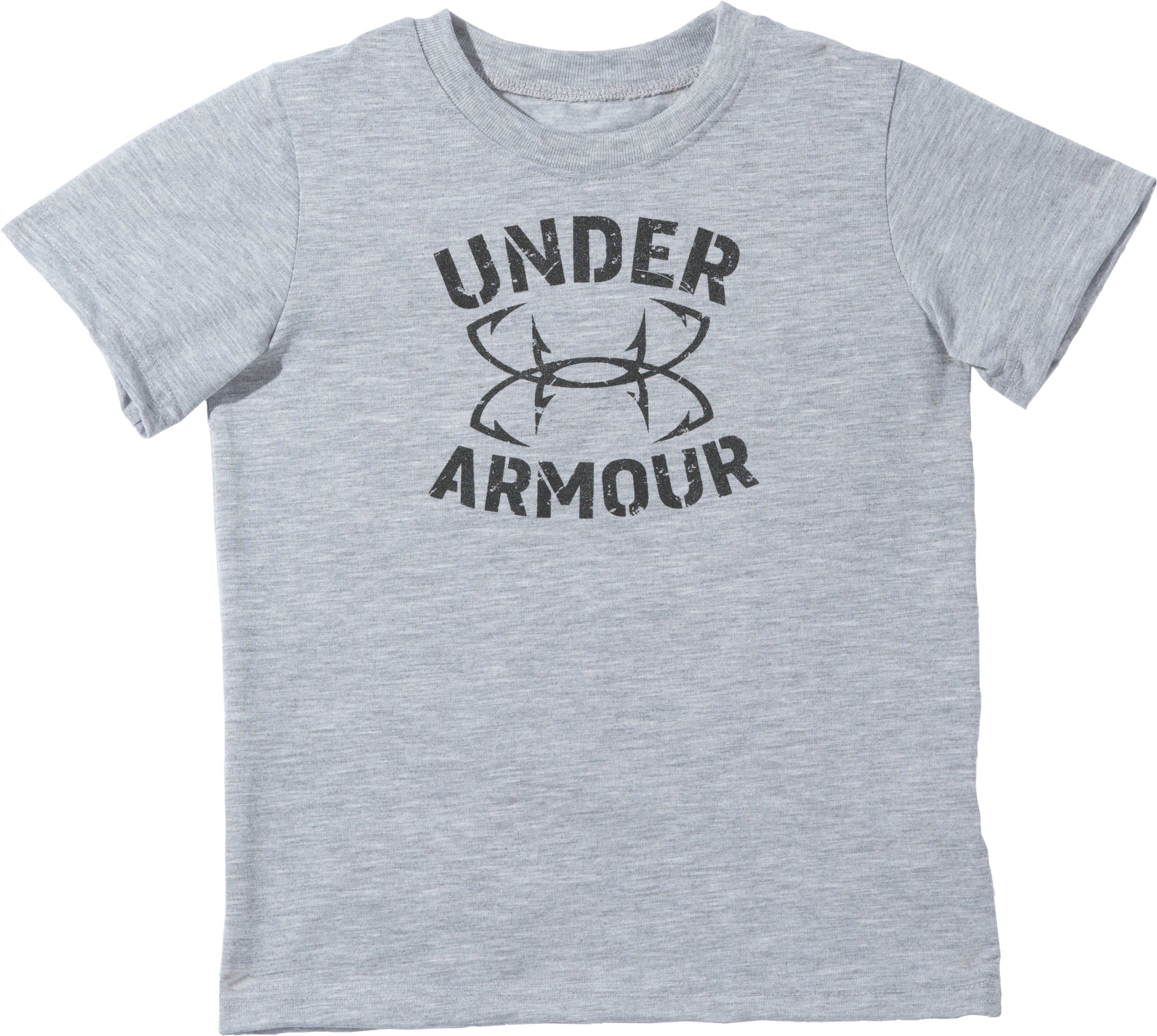 Boys' Toddler UA Fish Hook Logo T-Shirt, True Gray Heather, Laydown