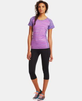 Women's HeatGear® Sonic Varsity Short Sleeve  1 Color $20.99 to $26.99