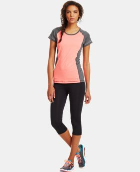 Women's HeatGear® Sonic Varsity Short Sleeve  2 Colors $20.99 to $26.99