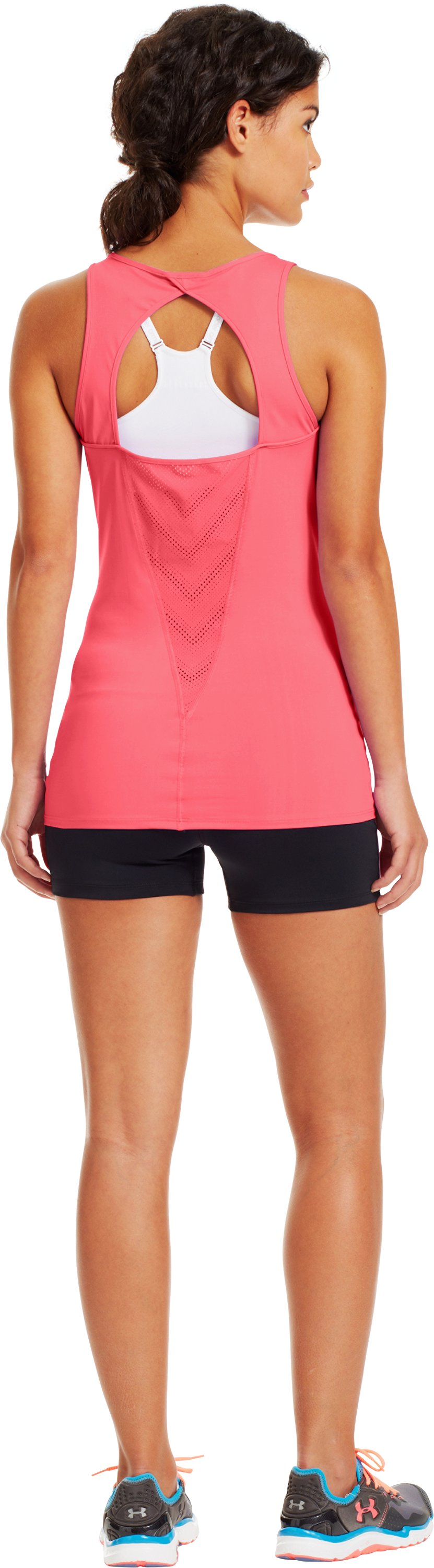 Women's HeatGear® ArmourVent™ Tank, BRILLIANCE, Back