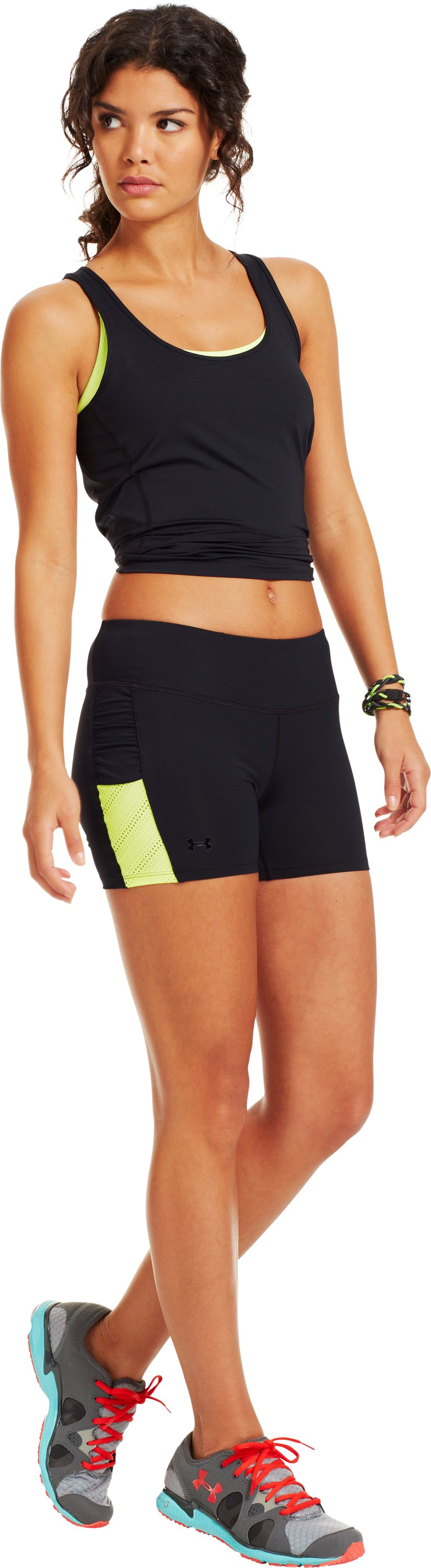 Women's HeatGear® ArmourVent™ Shorts, Black