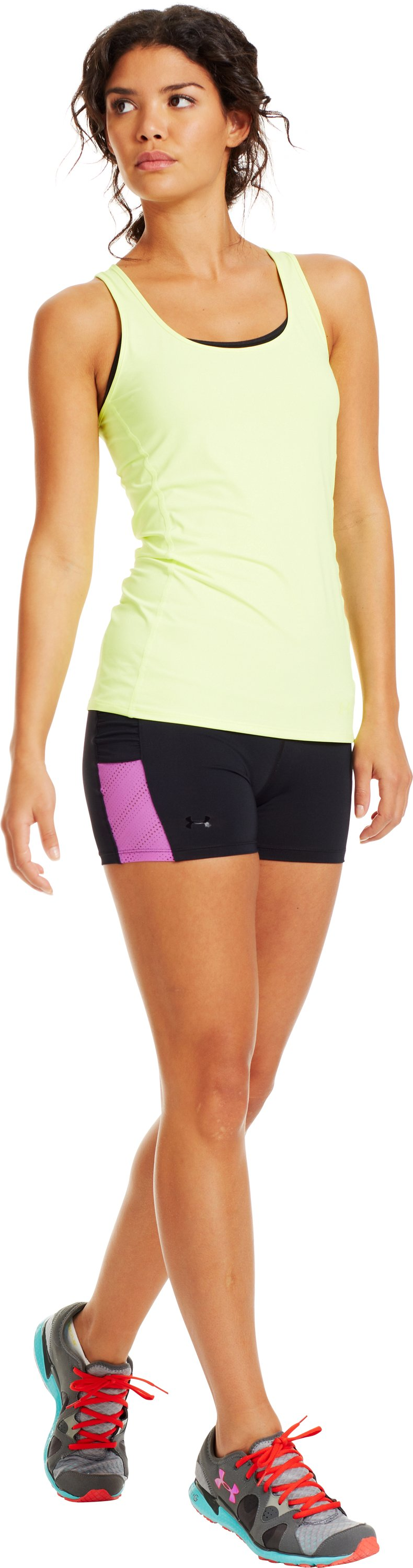 Women's HeatGear® ArmourVent™ Shorts, Black , Front