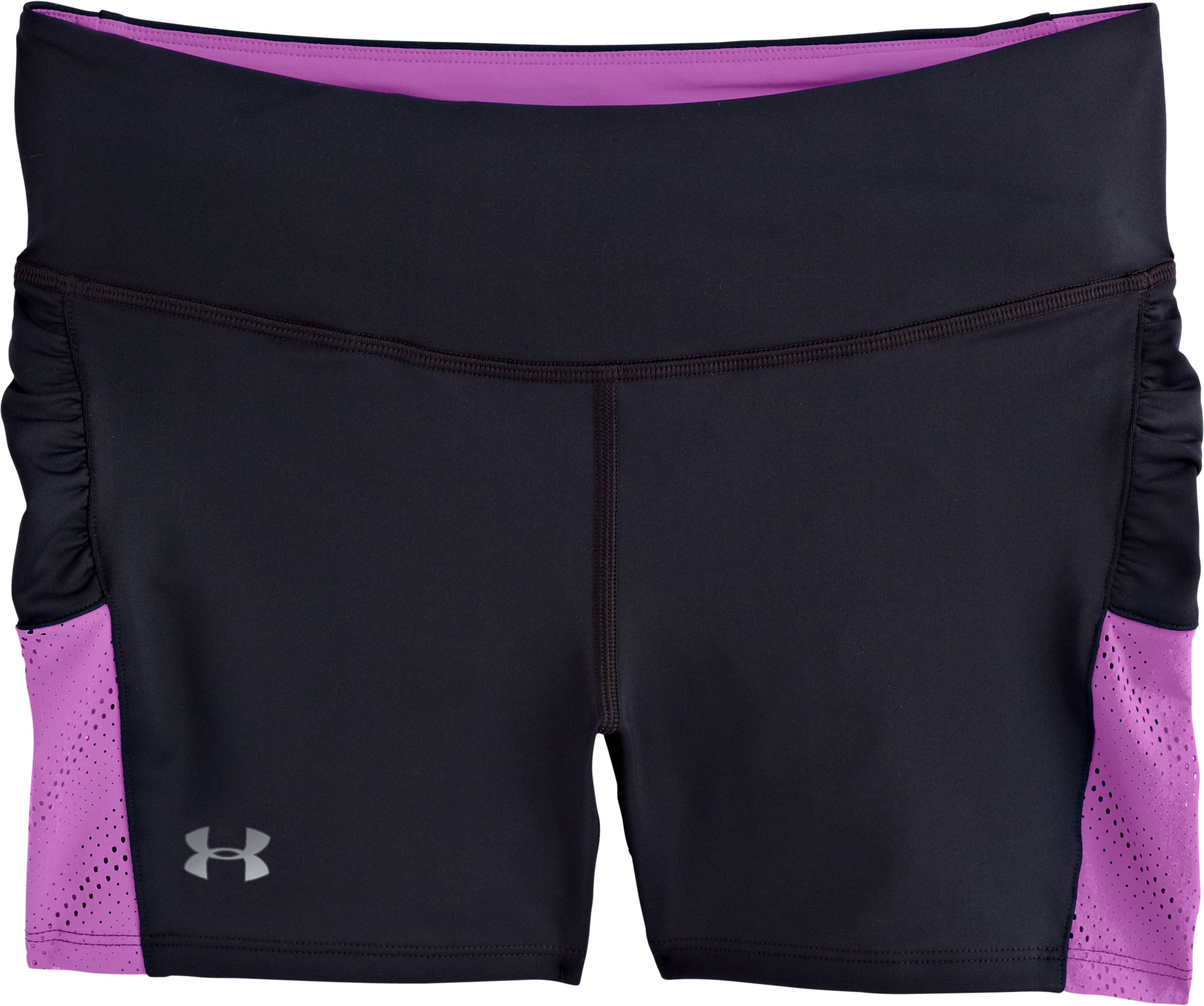 Women's HeatGear® ArmourVent™ Shorts, Black , Laydown