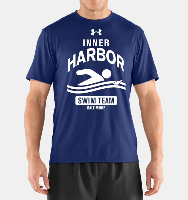 Men s ua inner harbor swim club t shirt under armour us for Under armour swim shirt youth